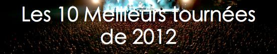 Tournées 2012