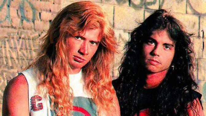 Dave Mustaine et Nick Menza, sur l'album Rust in Peace.